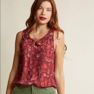 ModCloth Just as Imagined Top in Curiosity